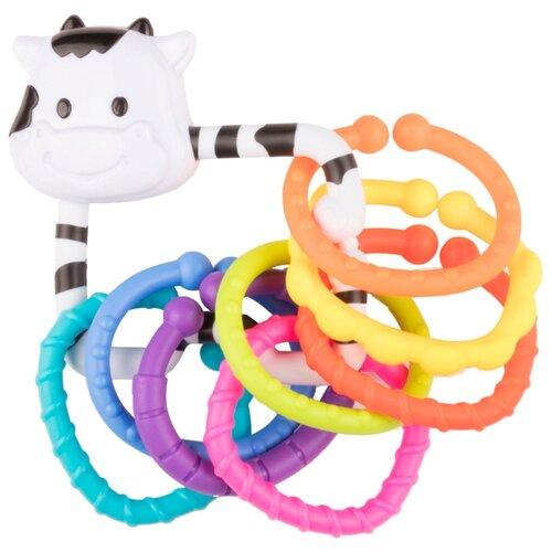 Погремушка Happy Baby Moo-Ring белый happy baby 330058 игрушка погремушка keys of fun
