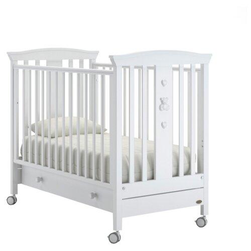 Купить Кроватка Nuovita Fasto (колесо, качалка) белый, Кроватки