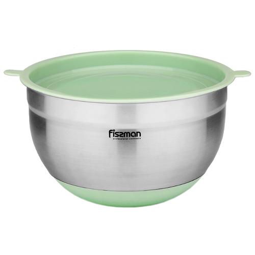 Миска Fissman 5115/5116 серебристый/зеленый