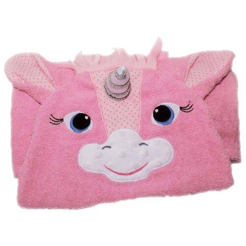 BabyBunny Полотенце Единорожка банное 65х125 см розовое