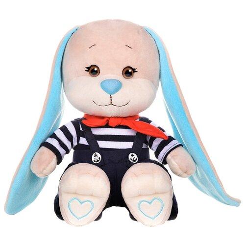 Купить Мягкая игрушка Jack & Lin Зайчик Жак в полосатой кофточке и синих штанишках 25 см, Мягкие игрушки
