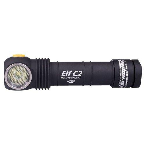 Ручной фонарь ArmyTek Elf C2 Micro-USB XP-L (теплый свет) + 18650 Li-Ion черный ручной фонарь l a g s011 золотой