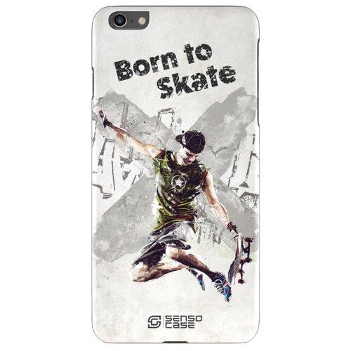 Чехол Sensocase 100064 + защитное стекло для Apple iPhone 6/6s Plus скейтбординг 2 защитное стекло caseguru для apple iphone 6 6s silver logo