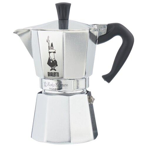 Гейзерная кофеварка Bialetti Moka Express (6 чашек), серебристый
