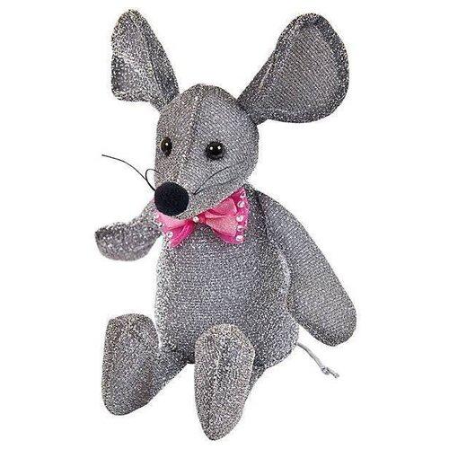 Мягкая игрушка ABtoys Мышка блестящая 16 см, Мягкие игрушки  - купить со скидкой