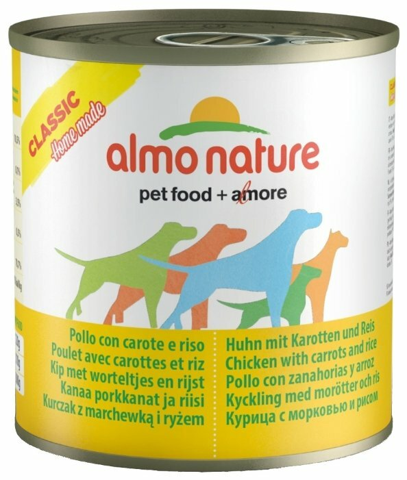 Корм для собак Almo Nature Classic Home Made курица с морковью, с рисом