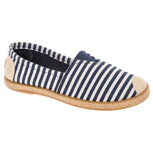 Слиперы CROSBY размер 35, синий/белыйБалетки, туфли<br>