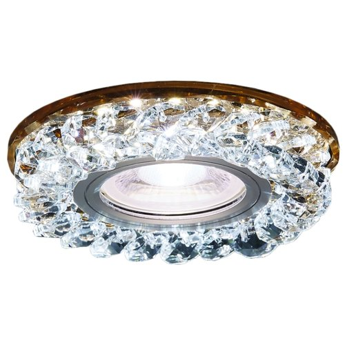Встраиваемый светильник Ambrella light S257 BR, хром/коричневыйВстраиваемые светильники<br>