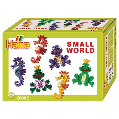 Hama Набор термомозаики Маленький мир Морской конек, лягушка (3501)Поделки и аппликации<br>