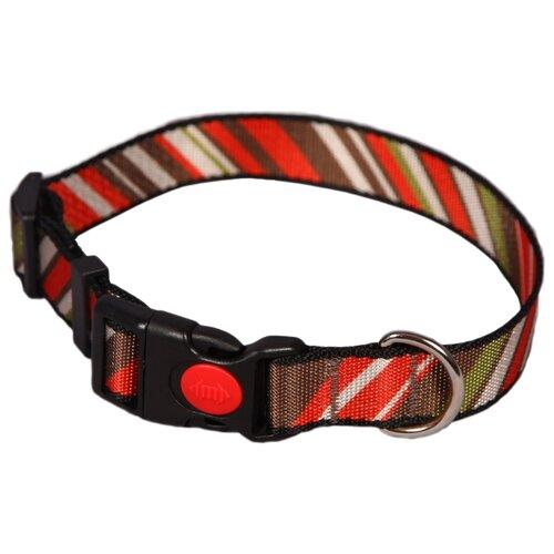 Ошейник Joy 2АМО00590 35-50 см Красный/коричневый/зеленый