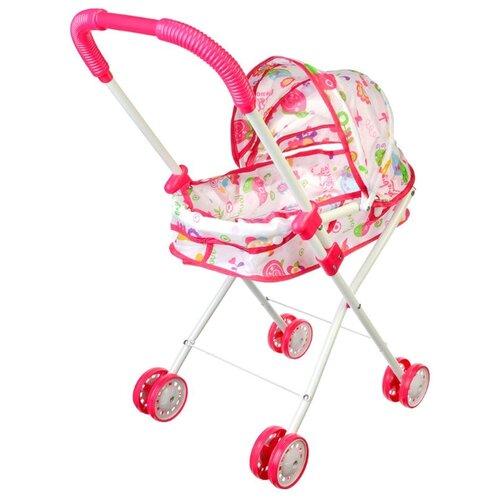 Купить Коляска-люлька Jinshengye Toys Factory 278082 белый/розовый, Коляски для кукол