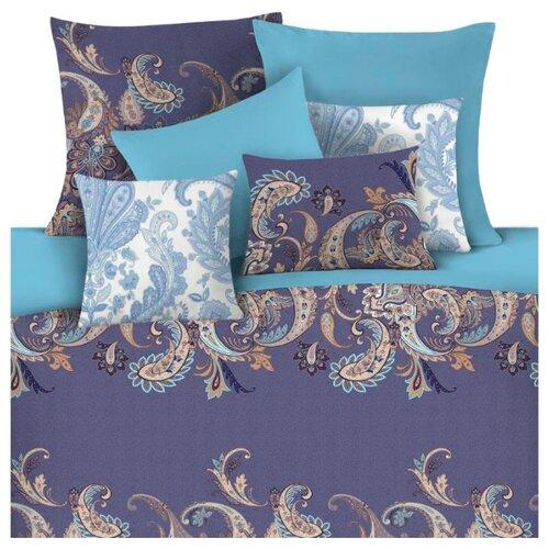 Постельное белье евростандарт Mona Liza Latifa 50 х 70 см сатин синий / голубой детское постельное белье mona liza детское постельное белье тэдди с подарком цвет голубой 145х210 см