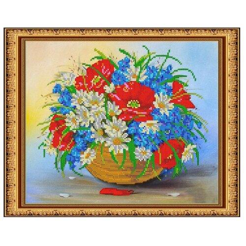 Светлица Набор для вышивания бисером Полевой букет 24 x 30 см, бисер Чехия (253)