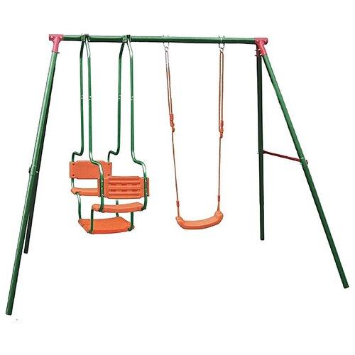 DFC Детский комплекс (LS-01) зеленый/оранжевый спортивные комплексы dfc детский комплекс с батутом и баскетбольным кольцом mtb 01