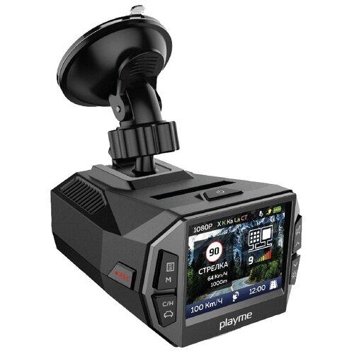 Видеорегистратор с радар-детектором Playme P600SG, GPS черный