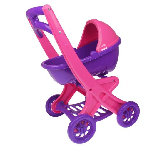 Купить Коляска-люлька Doloni С люлькой (0121) розовый/фиолетовый, Коляски для кукол
