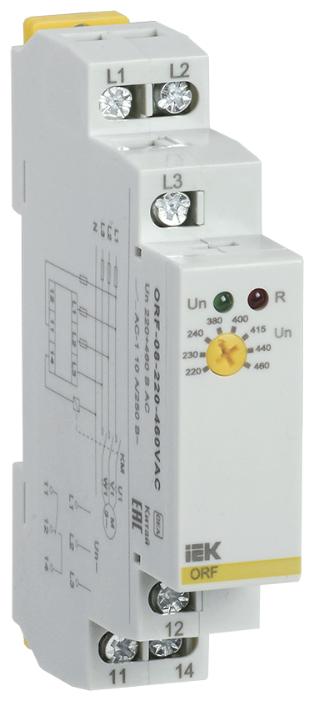 Реле контроля фаз IEK ORF-08-220-460VAC — купить по выгодной цене на Яндекс.Маркете