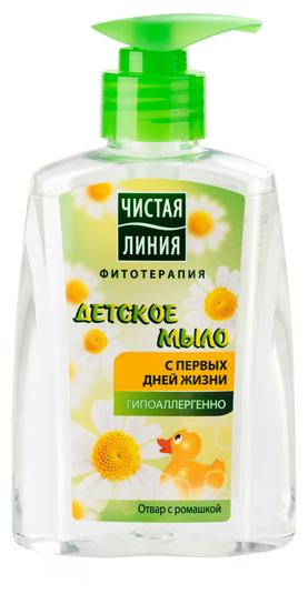 Чистая линия Жидкое мыло детское с отваром