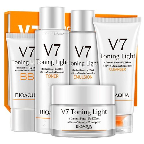 Набор BioAqua V7 Toning light dr jart v7 toning light cleanser