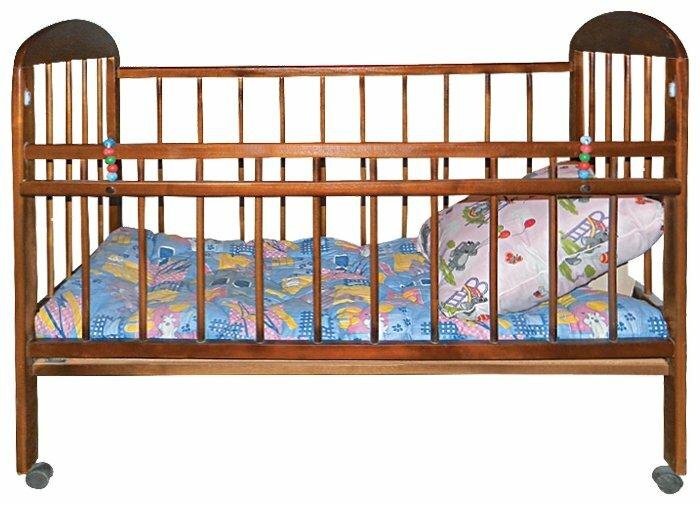Кроватка Уренская Мебельная Фабрика Мишутка 7 (без ящика)