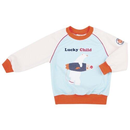 Свитшот lucky child размер 20, голубойДжемперы и толстовки<br>