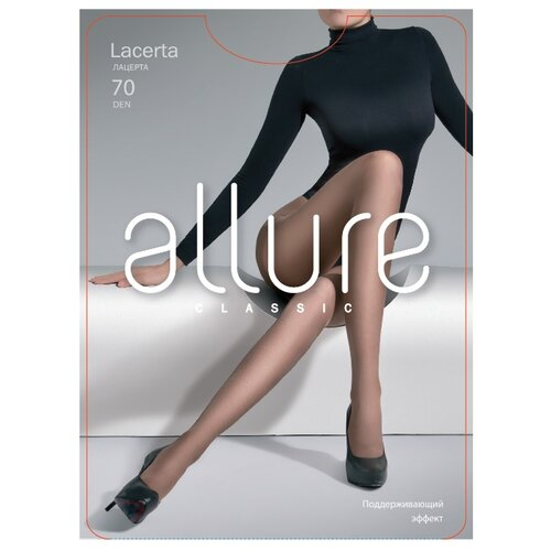 Колготки ALLURE Classic Lacerta 70 den, размер 3, glase (золотистый) колготки allure classic lacerta 20 den размер 3 glase золотистый