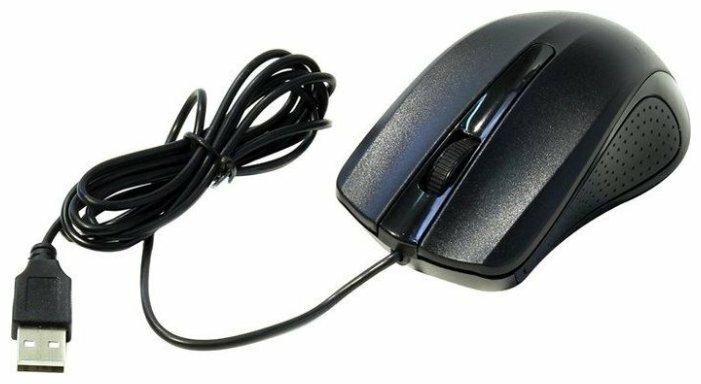 Мышь oklick 225m черный/синий мышь оптическая 1200dpi usb 3but 288233