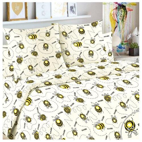 Постельное белье 1.5-спальное Letto Жужу бязь, 50 х 70 см желтый