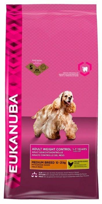 Корм для собак Eukanuba курица 3 кг (для средних пород)