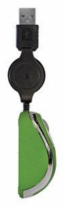 Мышь Kreolz MN02g Green-Silver USB