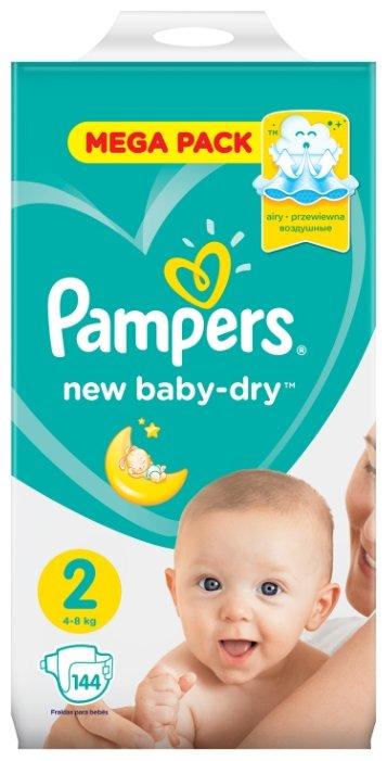 Pampers подгузники New Baby Dry 2 (4-8 кг) 144 шт.