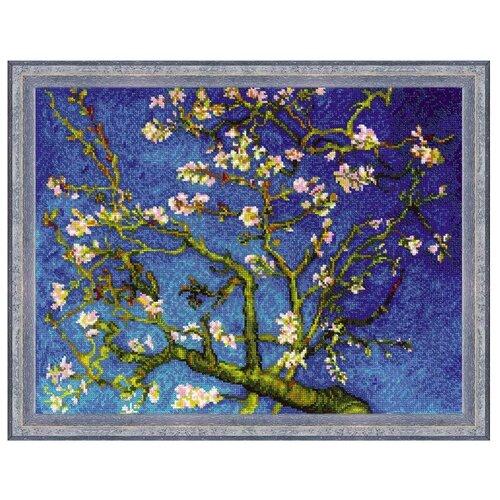 Купить Риолис Набор для вышивания крестом Цветущий миндаль по мотивам картины В. Ван Гога 40 х 30 (1698), Наборы для вышивания