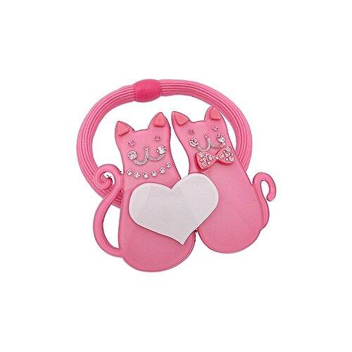 Резинка Magie Accessoires с декоративным элементом Кошки розовый/белыйРезинки, ободки, повязки<br>