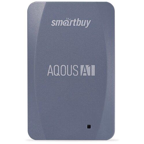 Фото - Внешний SSD Smartbuy Aqous A1 128GB USB 3.1 СЕРЫЙ внешний ssd smartbuy aqous a1 512gb usb 3 1 серый