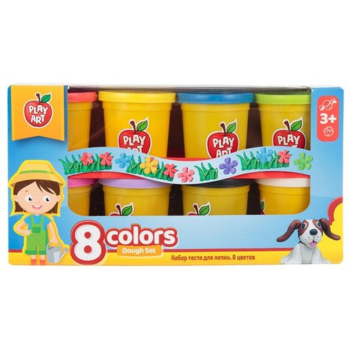 Масса для лепки Play Art набор 8 цветов (PA-3282) масса для лепки play art набор 8 цветов pa 3282
