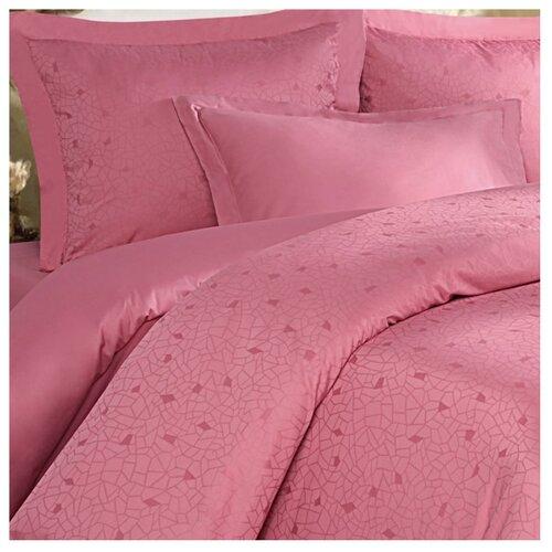 цена на Постельное белье 2-спальное Mona Liza Royal Мозаика брусника сатин-жаккард розовый