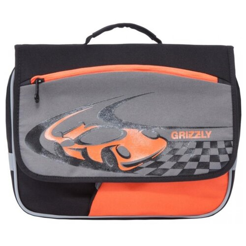 Купить Grizzly Рюкзак (RK-997-1), черный/серый/оранжевый, Рюкзаки, ранцы