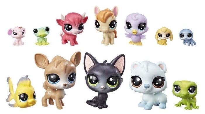 Фигурки Littlest Pet Shop 12 счастливых петов Пончики E2072