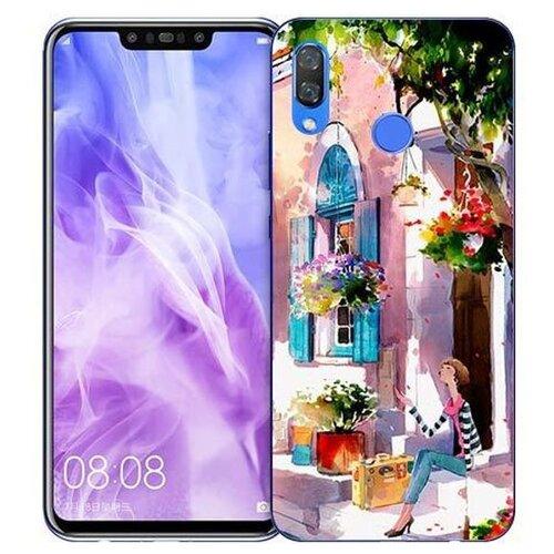 Купить Чехол Gosso 725759 для Huawei Nova 3 девочка на цветущей улочке