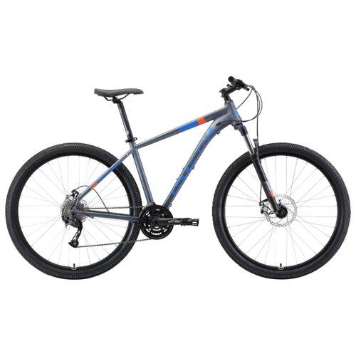 Горный (MTB) велосипед STARK Router 29.4 D (2019) серый/голубой/оранжевый 20