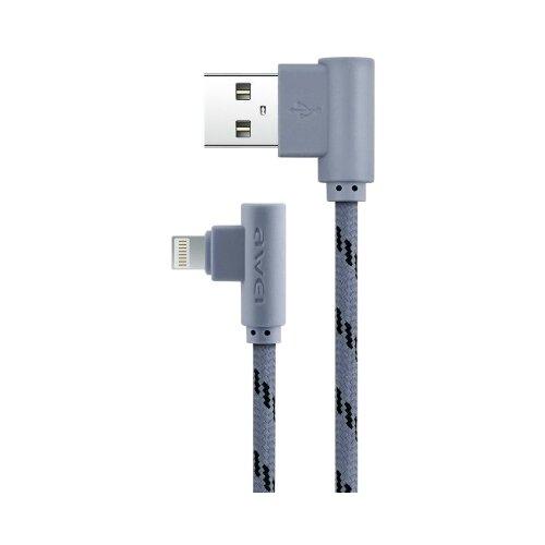 Кабель Awei USB - Lightning (CL-91) 1 м серый аксессуар awei cl 82 yellow