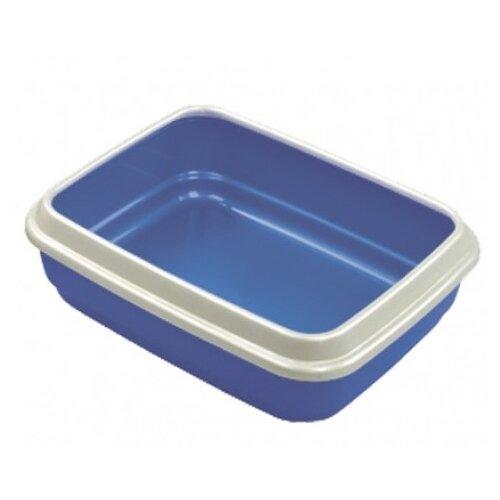 Туалет-лоток для кошек Imac Jerry 50х40х14.5 см пепельно-синий