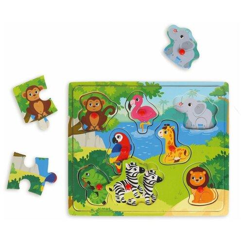 Рамка-вкладыш Mapacha Животные (76845), 8 дет. недорого
