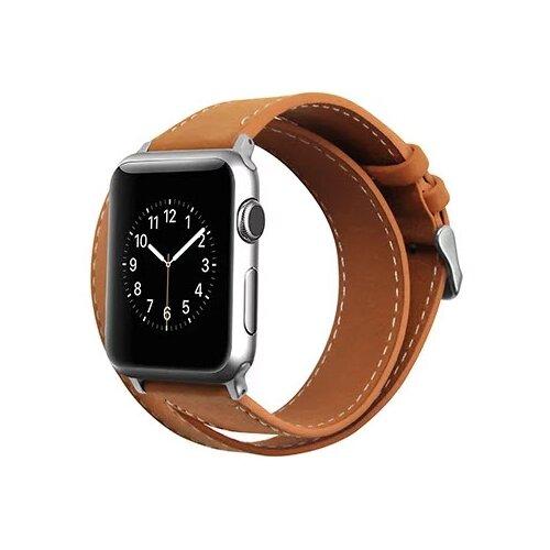 Cozistyle Double Tour Leather Band for Apple Watch 42/44mm коричневый ремешок cozistyle double tour leather watch band cdlb010 black