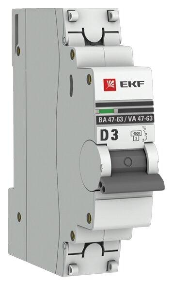 Автоматический выключатель EKF ВА 47-63 1P (D) 4,5kA