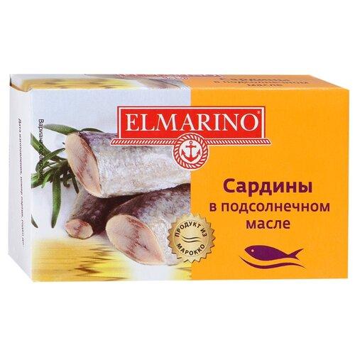ELMARINO Сардины в подсолнечном масле, 125 гКонсервы из рыбы и морепродуктов<br>