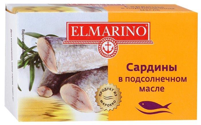 ELMARINO Сардины в подсолнечном масле, 125 г