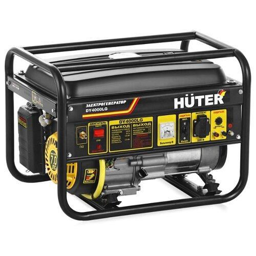 Газо-бензиновый генератор Huter DY4000LG (3000 Вт) газо бензиновый генератор huter dy4000lg 3000 вт