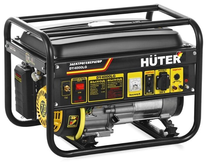 Газо-бензиновый генератор Huter DY4000LG (3000 Вт) — цены на Яндекс.Маркете