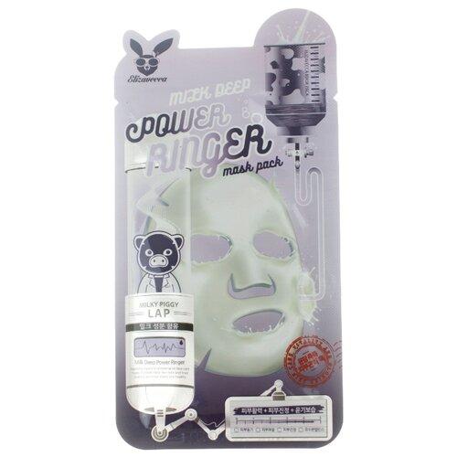 Elizavecca Тканевая маска с молочными протеинами Milk Deep Power Ringer Mask Pack, 23 мл